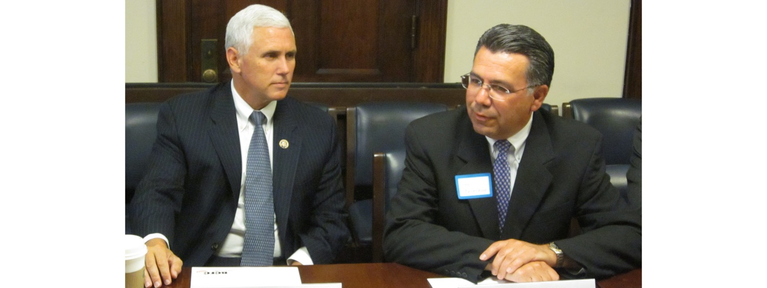 John Palatiello & Vice President Mike Pence (R-IN)-1